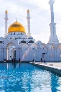1080x1920 Astana Mosque Minaret Kazaksthan