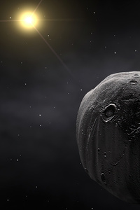 1080x2280 Asteroid Planets Dark Night 4k