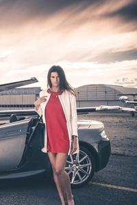 Aston Martin And Jet Model Photoshoot