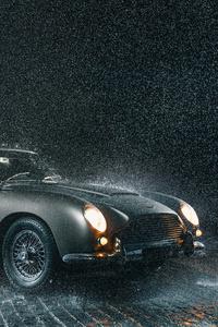 480x800 Aston Martin Db5 In Rain 5k