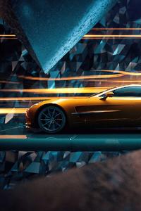 480x800 Aston Martin Golden Ride 4k