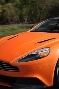 480x800 Aston Martin Vanquish Orange Matte