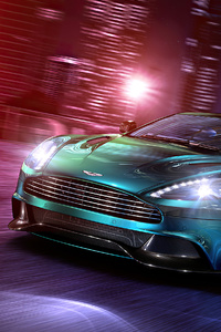 1440x2960 AstonMartin Vanquish City Reflections 4k