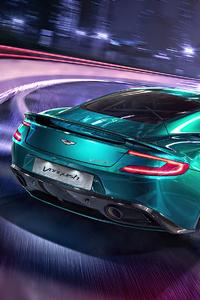480x800 AstonMartin Vanquish Drifting 4k