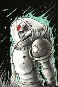 Astro Dead Sketch Art 4k