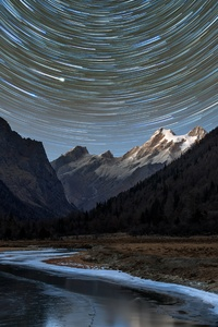 1242x2688 Astro Long Star Trail Photography 5k