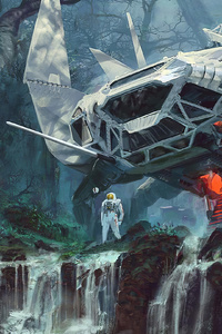 Astronaut Alien Forest 4k