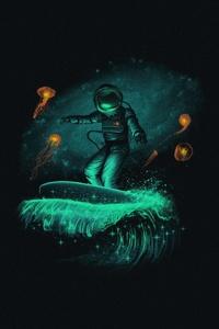 Astronaut Dark Minimalism Art