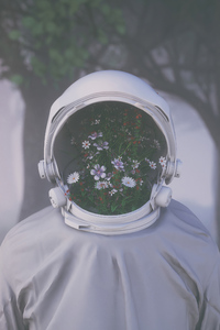 750x1334 Astronaut Face Reveal 4k
