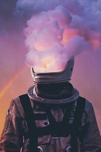 800x1280 Astronaut Face Smoke Helmet 4k