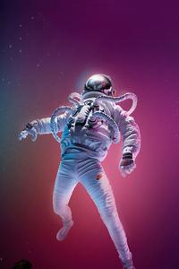 1125x2436 Astronaut Falling Sky 8k