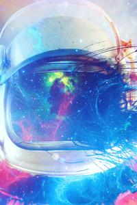 640x960 Astronaut Galaxy 5k