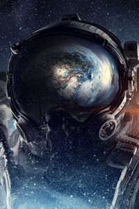 Astronaut Galaxy Space Stars Digital Art 4k