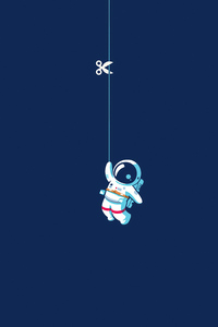 480x854 Astronaut Hanging On Moon 4k