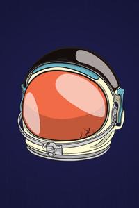 Astronaut Helmet Minimal 4k