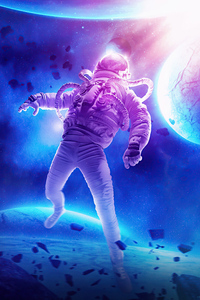 Astronaut In Another Universe 4k
