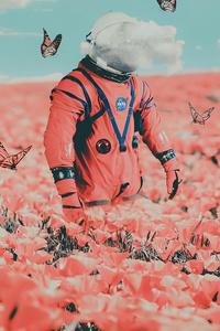 Astronaut In Butterflies 5k