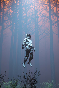 Astronaut In Forest 4k