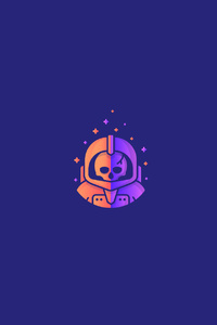 640x960 Astronaut In Skull Minimalism