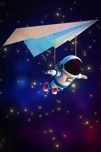 320x480 Astronaut Minimal 4k