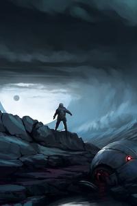 Astronaut Planet Science Ficition Dark