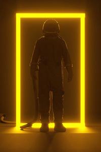 Astronaut Portal Neon 5k