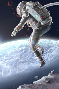 480x854 Astronaut Scifi Space 4k