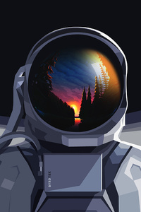 Astronaut Seeing Nature