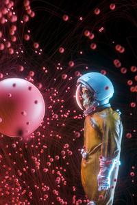 640x960 Astronaut Skull