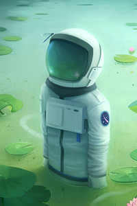 Astronaut Somewhere 4k