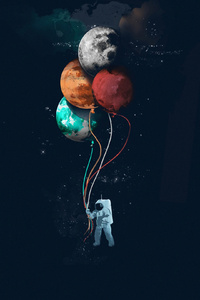 Astronaut Space Art 4k