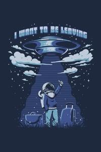 Astronaut Ufo Minimalism