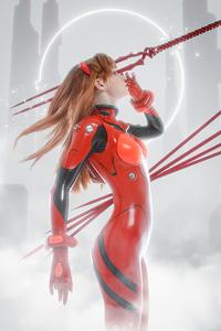 1440x2560 Asuka Langley Soryu Shirogane Sama Cosplay 4k