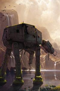 AT AT Walker Star Wars Artwork