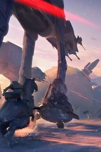 640x1136 AT AT Walker Star Wars Battlefront II