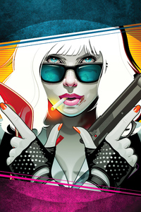 1080x2160 Atomic Blonde Illustration 4k
