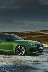1440x2560 Audi 2020 RS 4 Avant Green 5k