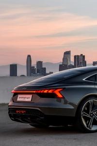 Audi E Tron GT Concept Black Coupe 4k
