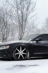 1440x2560 Audi In Snow
