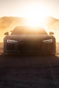 540x960 Audi R8 Dry Lake Desert 4k