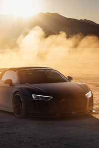 540x960 Audi R8 On The Vegas Dry Lake Bed 4k