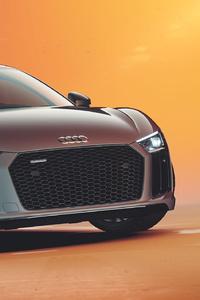 1280x2120 Audi R8 V10 Car