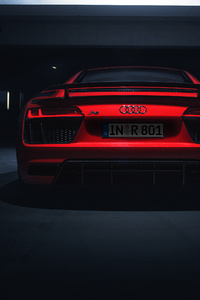 1080x2280 Audi R8 V10 Plus 2018 Rear Look 4k