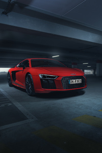 Audi R8 V10 Plus In Parking 4k