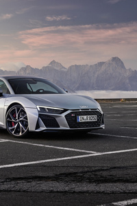 480x800 Audi R8 V10 RWD Coupe 2019 5k Side View