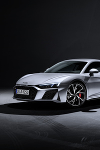 320x568 Audi R8 V10 RWD Coupe 2019 Side View