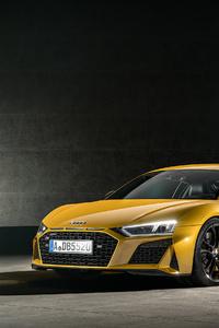 1080x2160 Audi R8 Yellow 4k