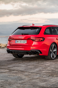 2160x3840 Audi Rs 4 Avant Rear Lights View