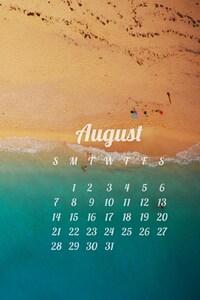 1440x2960 August Calendar 2016