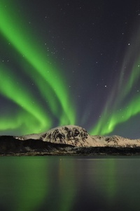 Aurora Across The Bay Lofoten 5k